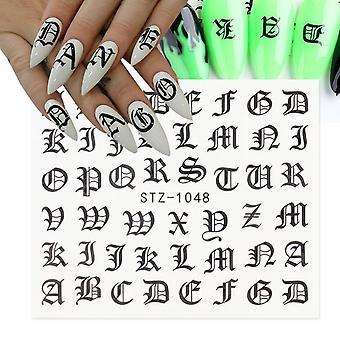Abc Letter Decals Nail Art Sticker
