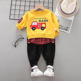 婴儿新棉三件休闲运动明星牛仔服装套装