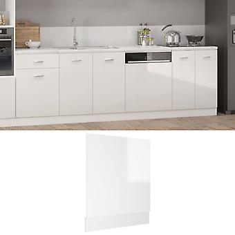 Spülmaschinenplatte Hochglanz Weiß 59,5x3x67 cm Spanplatte
