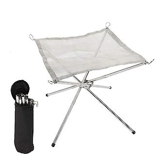 Outdoor Portable Fire Rack Folding Table Grill