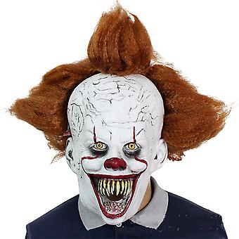 Pennywise Clown Soul Mask Halloween Headgear Masquerade Horror Party Costume Props