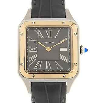 """Cartier Santos-Dumont """"Le 14 bis"""" Automatic Grey Dial Men's Watch W2SA0015"""