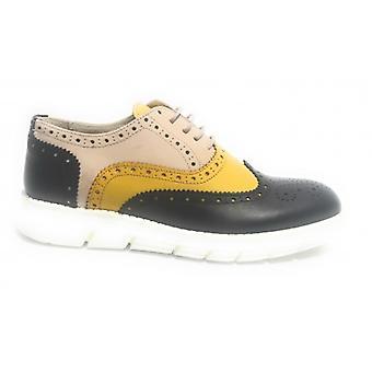 Мужская обувь Tony Wild Francesina Brogue Кожа бежевый Желтый и синий Us17tw17
