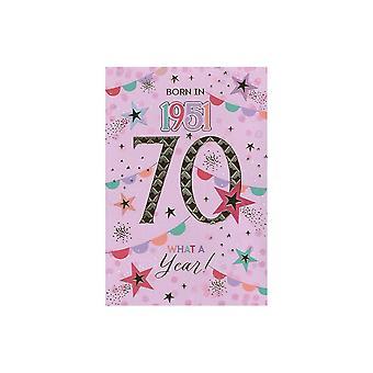 ICG Ltd 2021 Female 70 Year You Were Born Birthday Card