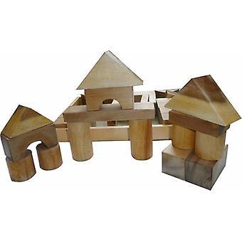 Qtoys Australia (Usa) Natural Wood Blocks - 34 osaa