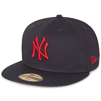 עידן חדש 59Fifty מצויד כובע - ניו יורק יאנקיז חיל הים / אדום