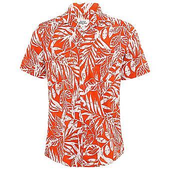 Hartford Slim Fit Leaf Print Slam Shirt