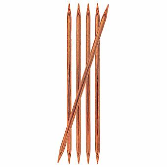 KnitPro Ginger: Knitting Pins: Double-Ended: 20cm x 6.00mm: Set of 5