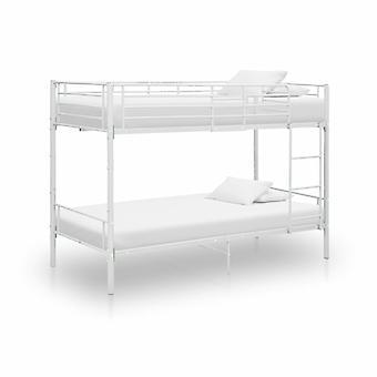 vidaXL Etagenbett Weiß Metall 90×200 cm