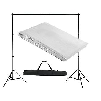 vidaXL photo background system 300 x 300 cm White
