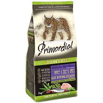 Первичный стерилизованный корм для кошек индейки и сельди (кошки, корм для кошек, сухой корм)
