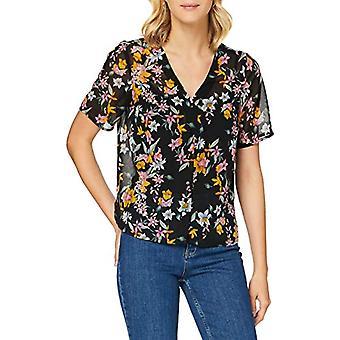 PIECES Pcnanna SS Top BC T-Shirt, AOP: Big Flower Black, S Woman