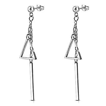 Autiga - STAINLESS steel pin earrings with cubic zirconia crystals, women's and stainless steel, color: Dreieck Ref. 4058433405103