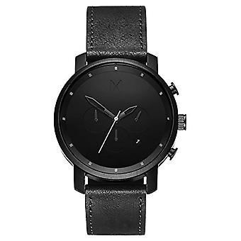 MVMT Men's Quartz Chronograph Watch with Leather Strap D-MC01BL