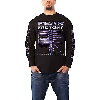Fear Factory T Shirt Demanufacture Band Logo Official Mens Black Long Sleeve