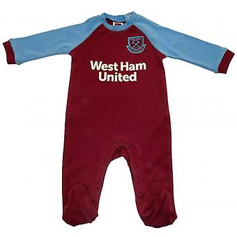 West Ham United Sleepsuit 12-18 Months SK