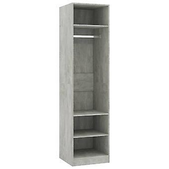 vidaXL vaatekaappi betoni harmaa 50×50×200 cm lastulevy