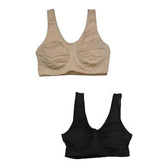 Rhonda Shear One 2-Pack Moisture-Wicking Underwire Beige Bra 749424