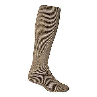 Mens fleece fodrade knä höga termiska strumpor