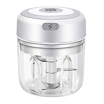 250Ml white mini rechargeable wireless electric garlic masher kitchen household tool meat grinder making complementary food az20310