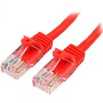 StarTech 45PAT5MRD 5m Cat5e U/UTP (UTP) Czerwony kabel sieciowy
