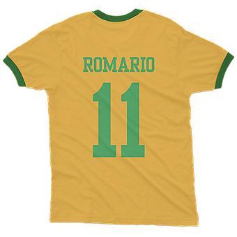 Romario 11 brazil country ringer t-shirt