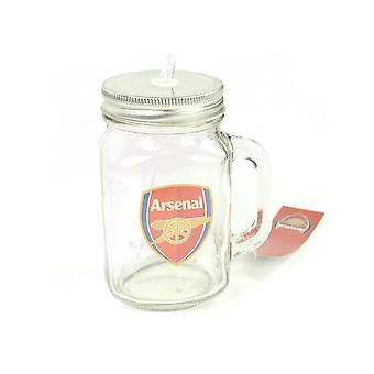 Arsenal Mason Jar 500ml