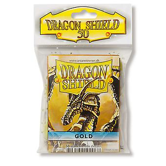Dragon Shield Classic Gold Card Sleeves - 50 Sleeves