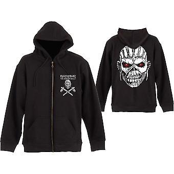 Iron Maiden - Eddie Axe Unisex Large Zipped Hoodie - Noir