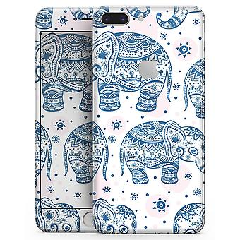 Ethnic Navy Seamless Aztec Elephant - Skin-kit For The Iphone 8 Or 8