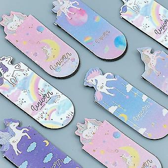 Flying Unicorn Magnetic Bookmarks Books Marker Of Page Stationery School