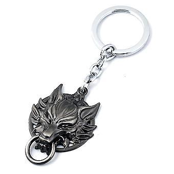 Final Fantasy Wolf Head Keychain Key Ring Pendant Alloy Jewelry