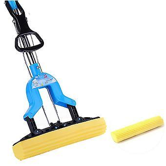 Microfiber Flat Mop, Cleaning Squeeze Hand Free Floor Mop