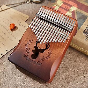 Kalimba piano de pulgar de caoba de 17 teclas, instrumento mbira de 17 teclas