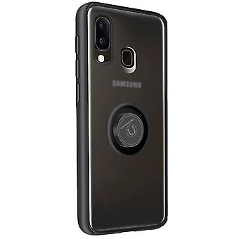 Cover Samsung Galaxy A20e Bi-material Metal Ring Function Support black