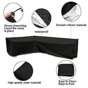 Heavy-Duty Outdoor Sofa Cover, 100% wasserdicht 600d Terrasse Sofa Cover, Garten Garten Gartenmöbel Cover
