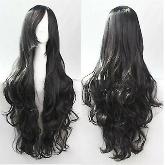(Black) Woman Long Curly Wigs Cosplay Halloween Costume Anime Hairs Wavy Full Wig Hair