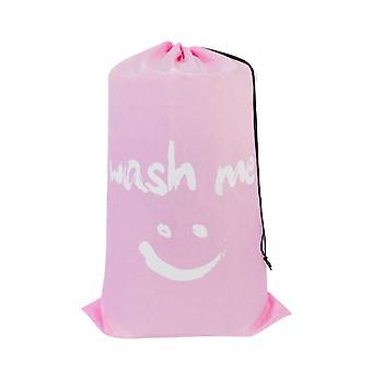 Nylon Laundry Bag Wash Drawstring Bag Dirty Clothes Organizer Travel Storage Pouch Machine Washable
