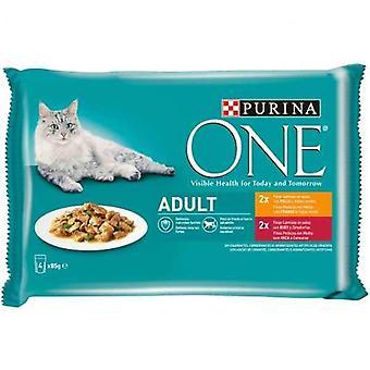 Hrană pentru pisici Purina One Adult (4 x 85 g)