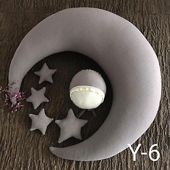 Adereços de fotografia recém-nascidos - Travesseiro estrela da lua bebê posando travesseiro