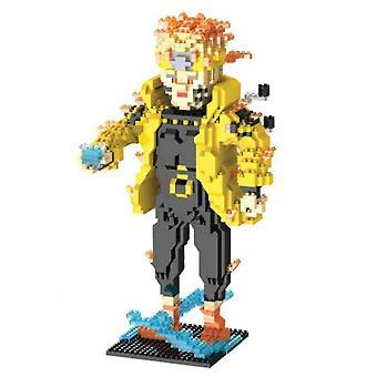 Узумаки Наруто Строительные блоки головоломки Micro 3d Цифры Пластиковые образовательные кирпичные игрушки