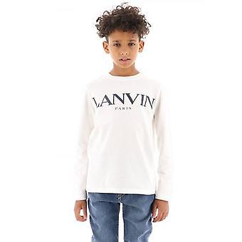 Lanvin Barn Off-White Långärmad T-Shirt