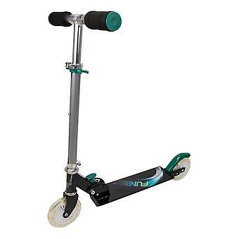 Kinder zwei Räder Inline faltbaren Roller mit blinkenden LED-Rädern und verstellbarem Lenker