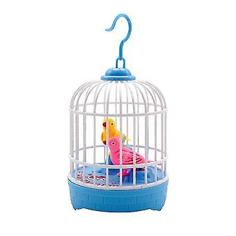 ميني التحكم الصوتي التعريفي قفص الطيور لعبة الأطفال محاكاة الصوت الكهربائي | RC الحيوانات