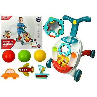 Loopwagen baby - Interactief - 46 cm - met ballen - Licht en Geluid
