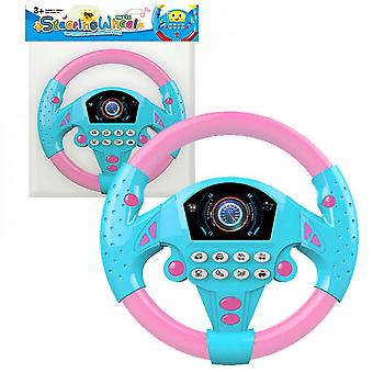Children's Musical Toy Simulation Steering Wheel With Lights Educational Sounding Toy