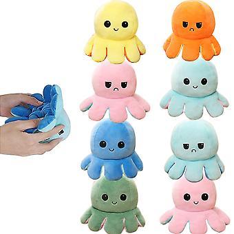 4 Pcs Children's Toys Cute Little Octopus Double-sided Flip Plush Toy