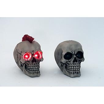 17cm LED światła czaszka Ornament ozdobny figurki pomysł na prezent