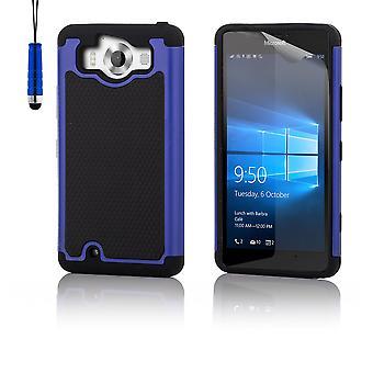 Shock roiskesuojattu kotelo + stylus varten Microsoft Lumia 950XL - Deep Blue