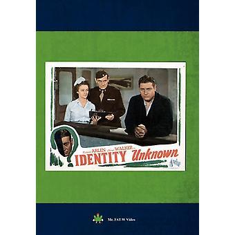 Identity Unknown [DVD] USA import